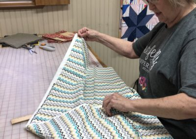 Quilting away